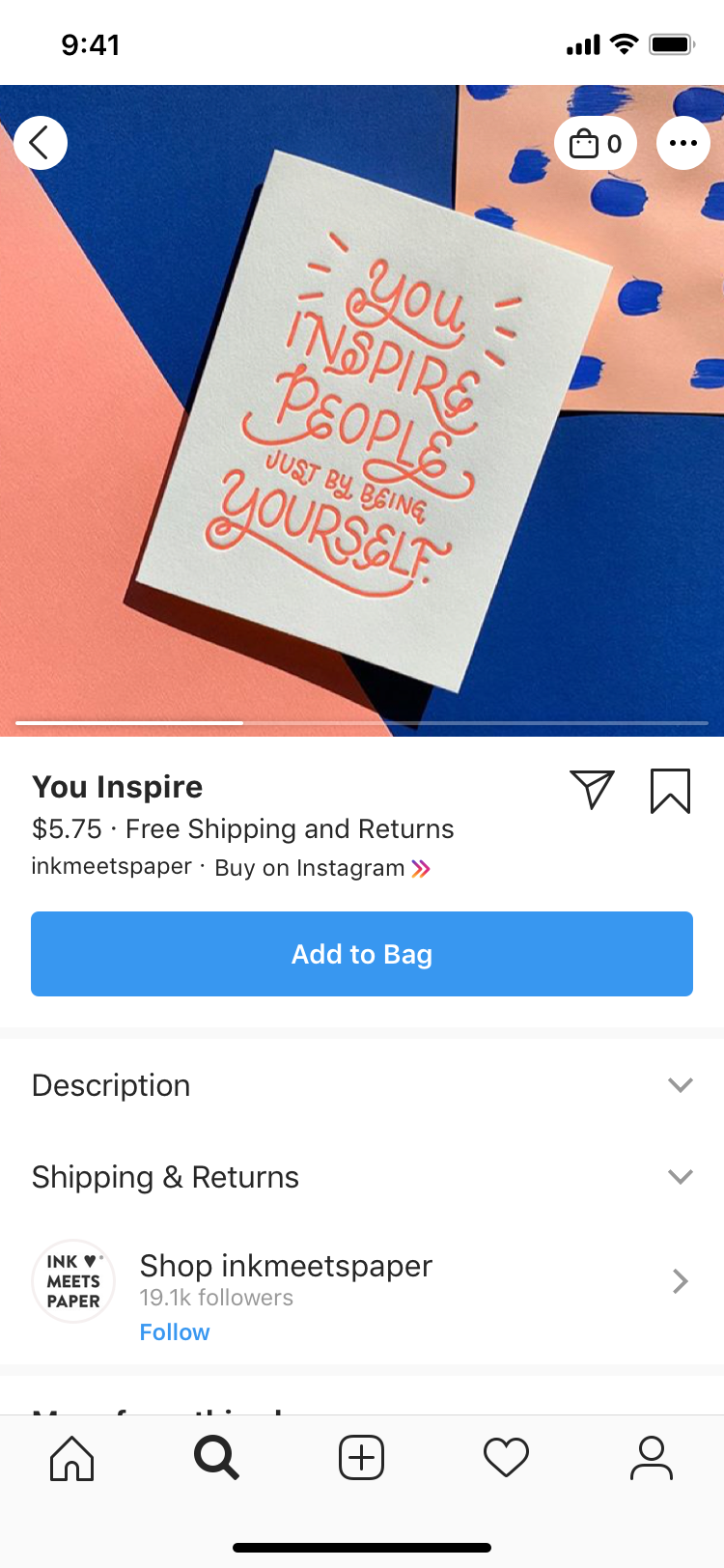 instagram product page checkout