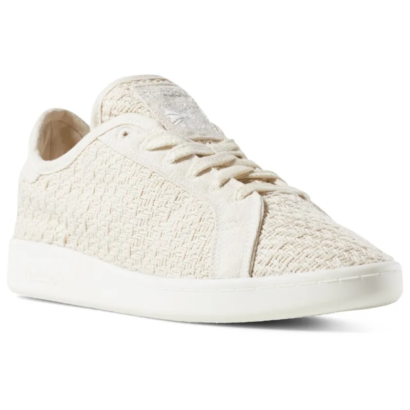 reebok sustainable cotton and corn sneakers in cream