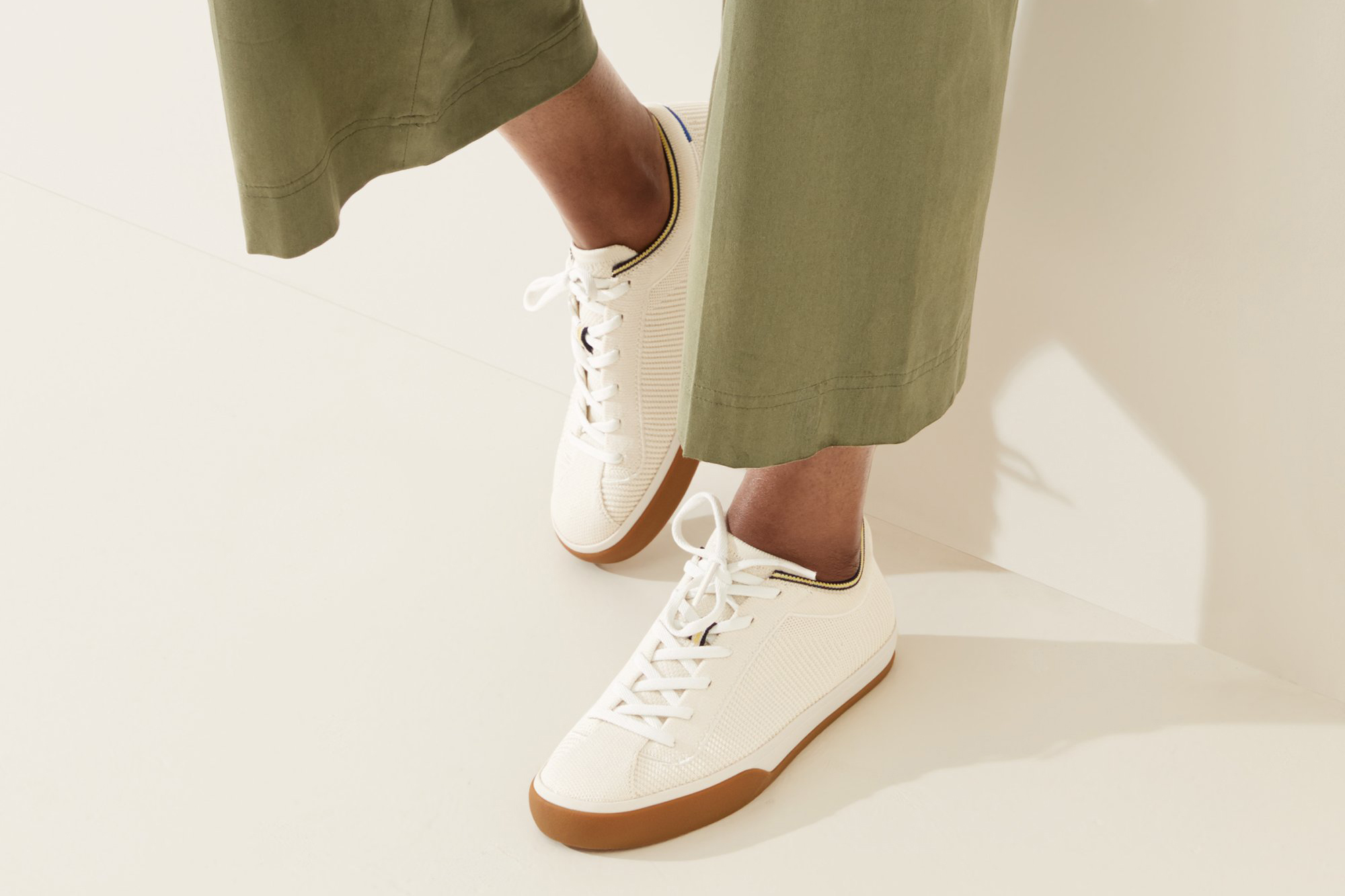 rothy's lace up sustainable sneaker