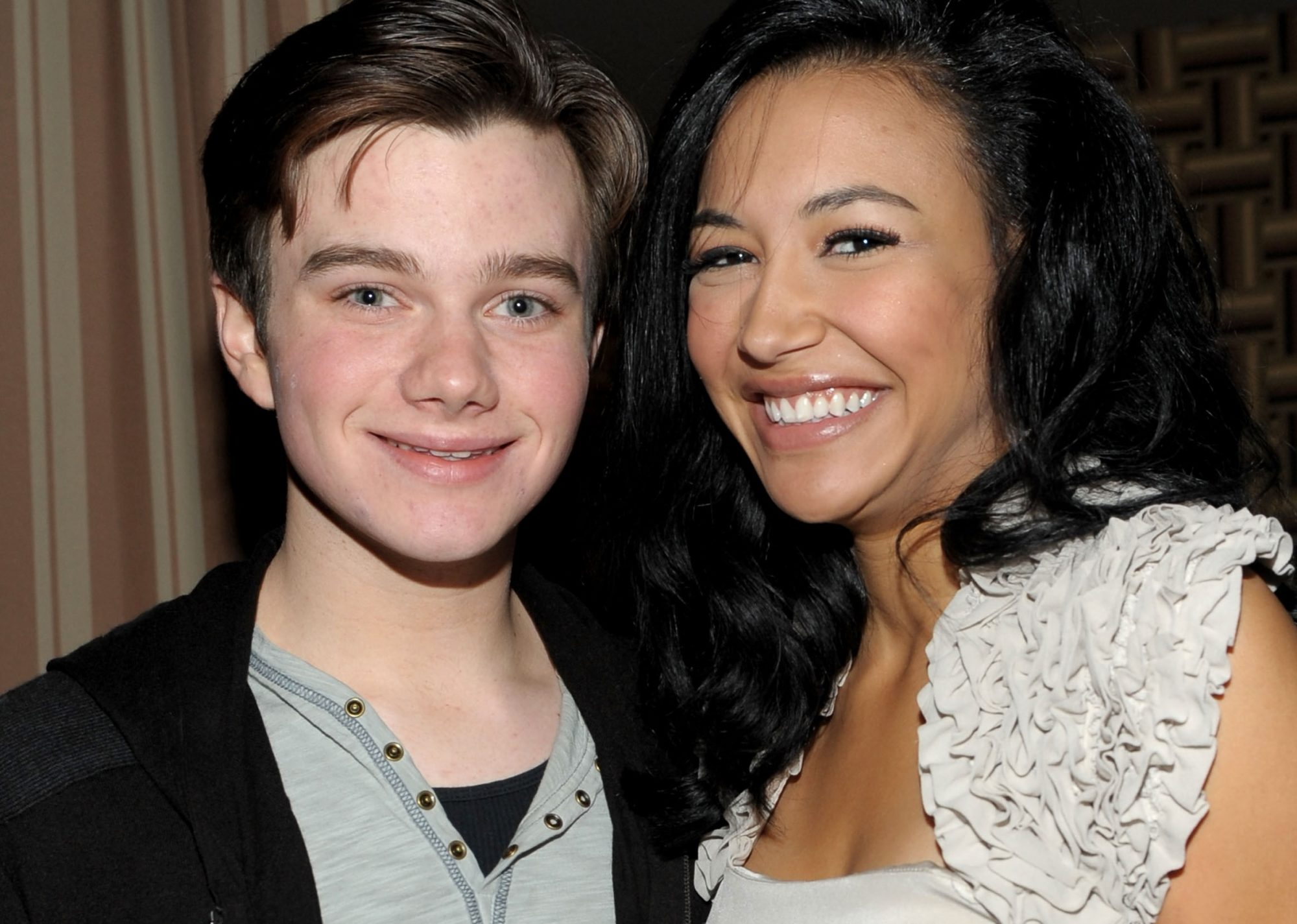chris colfer and naya rivera from glee