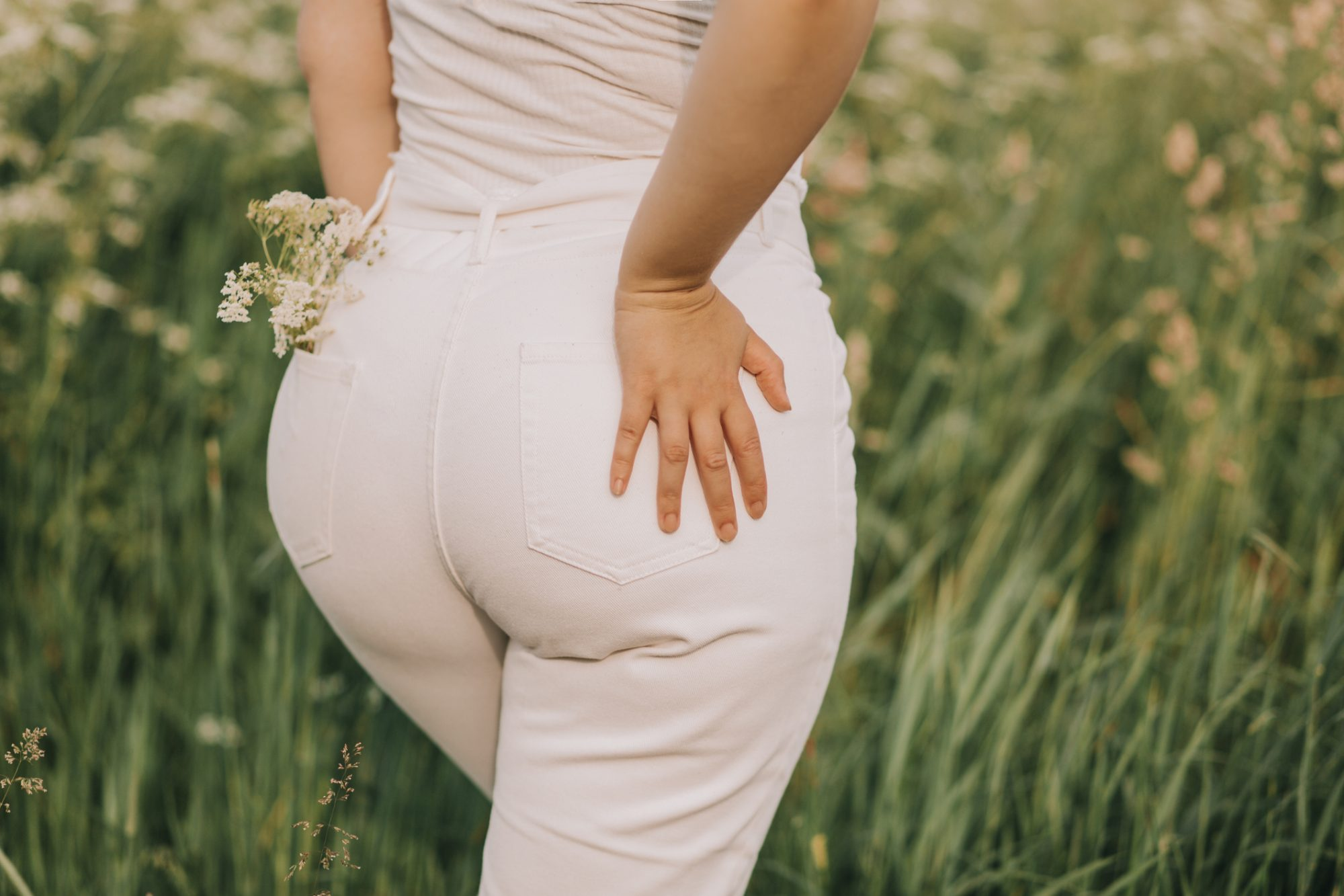 nude panties white jeans for women