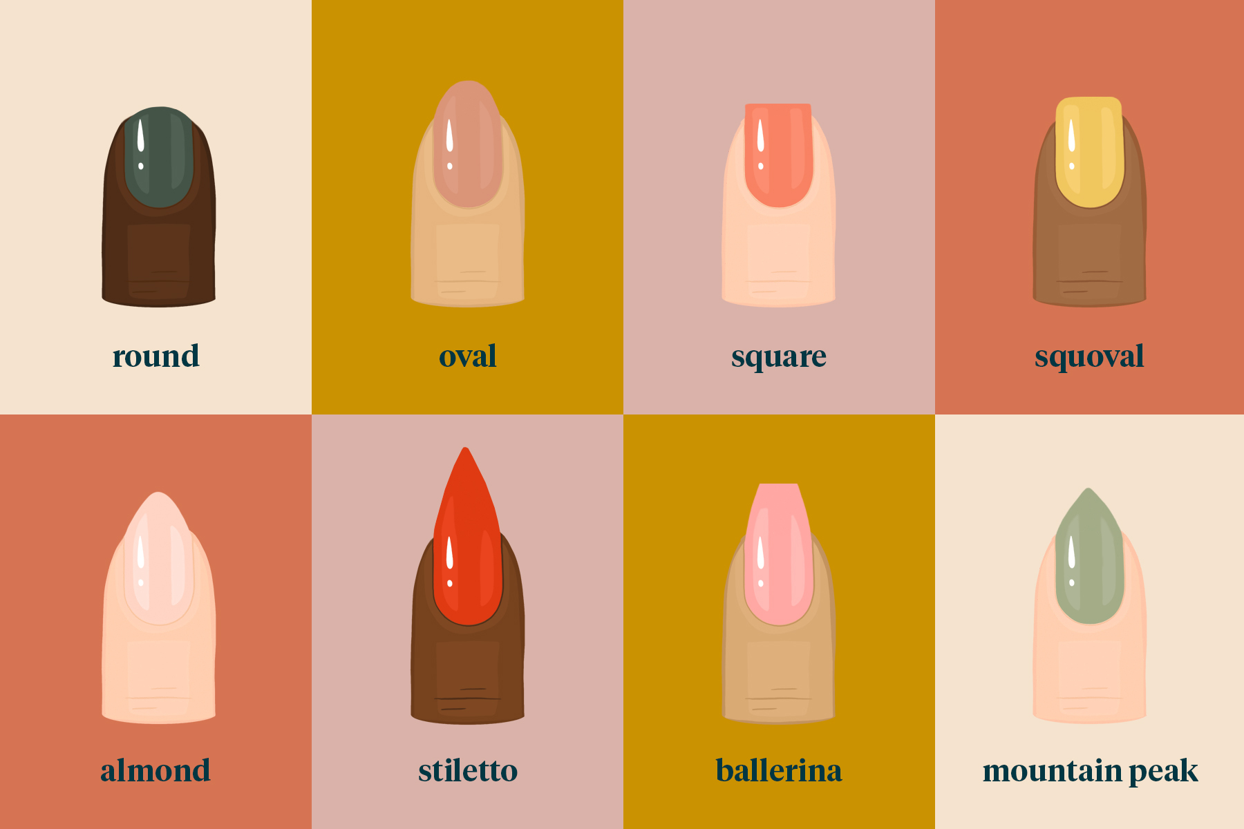 nail shapes, how to choose a nail shape, square nails