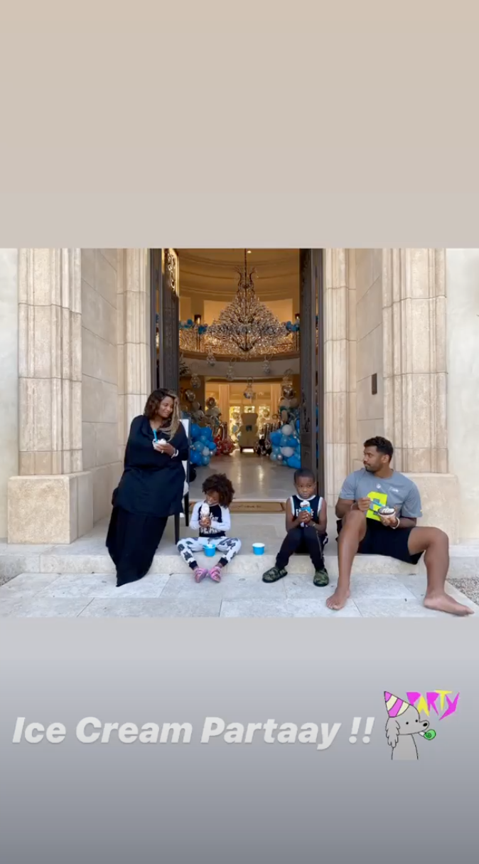 ciara and russell wilson family photo with new son Win