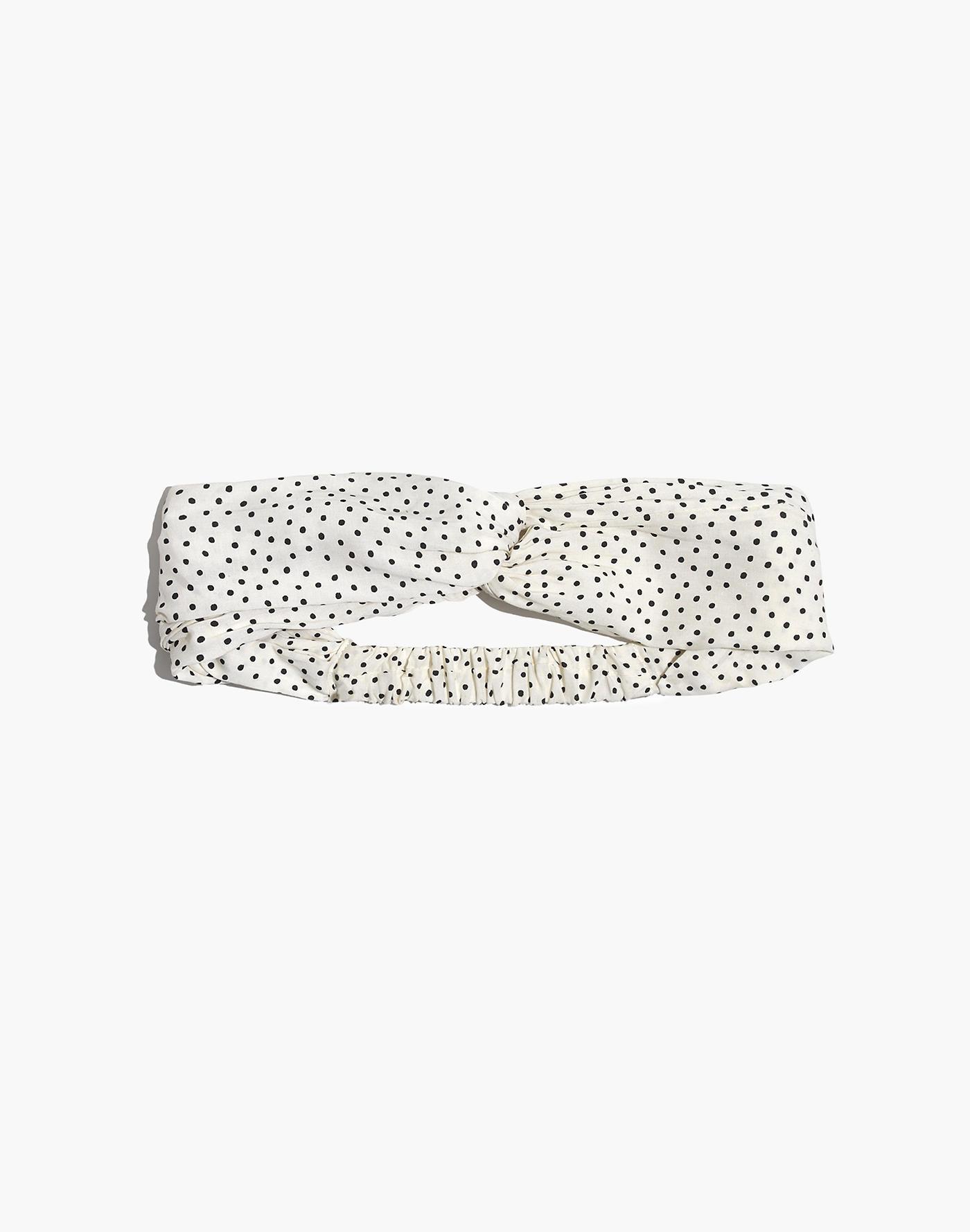 Madewell soft headband in polka dots