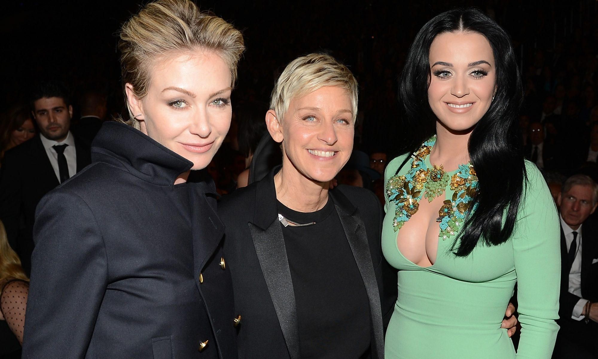 ellen degeneres, portia de rossi, and katy perry