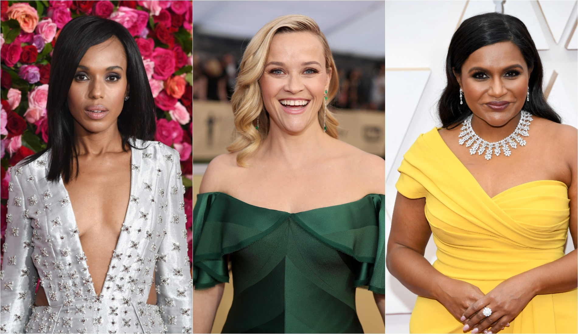 reese witherspoon, kerry washington, mindy kaling