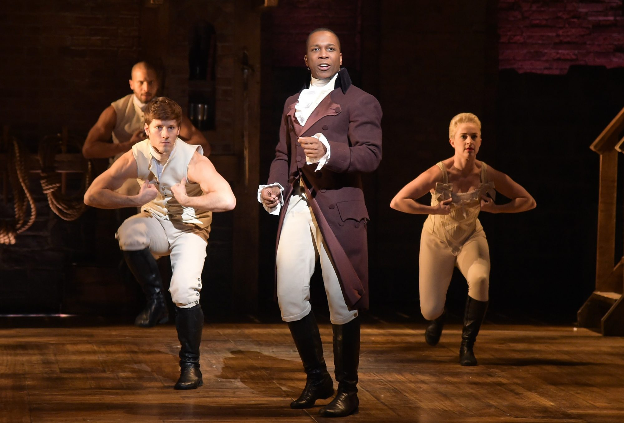 leslie odom jr in hamilton as aaron burr