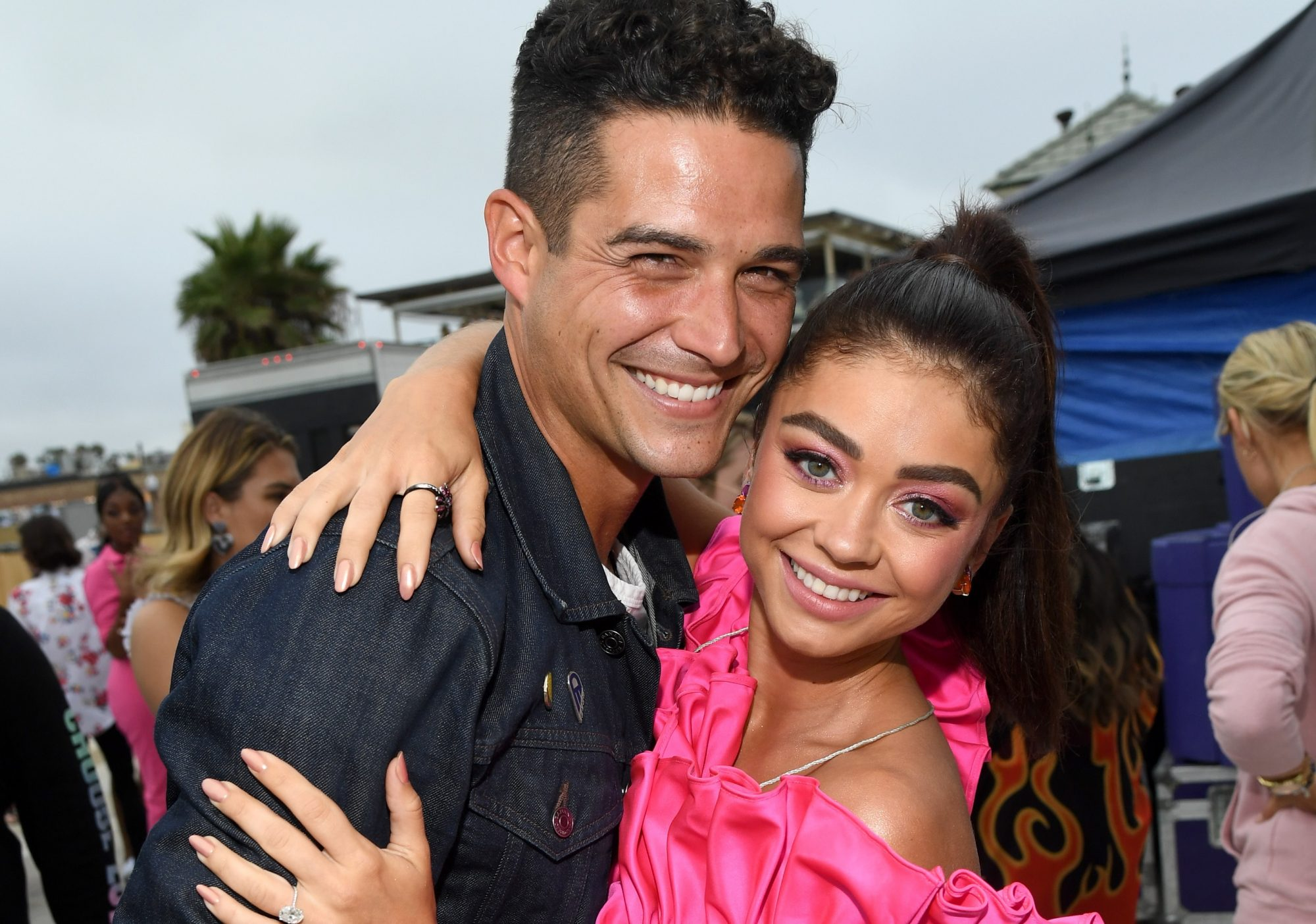 sarah hyland wells adams wedding