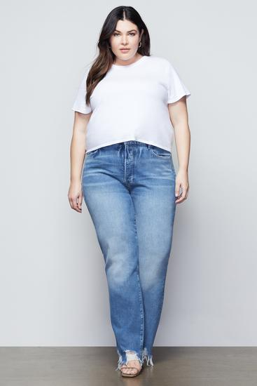 good american boyfriend jeans, best boyfriend jeans for curvy