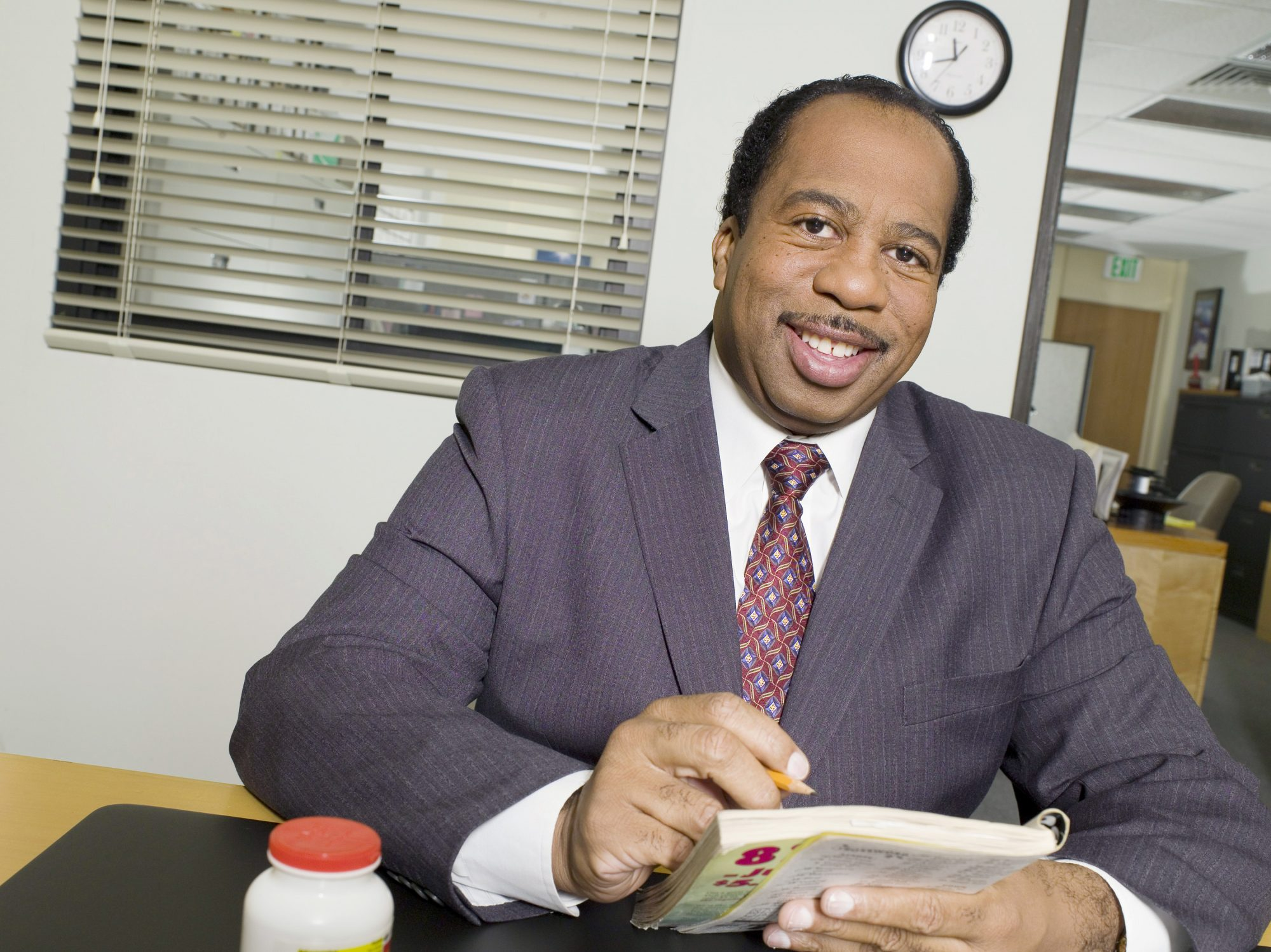leslie david baker as stanley on the office