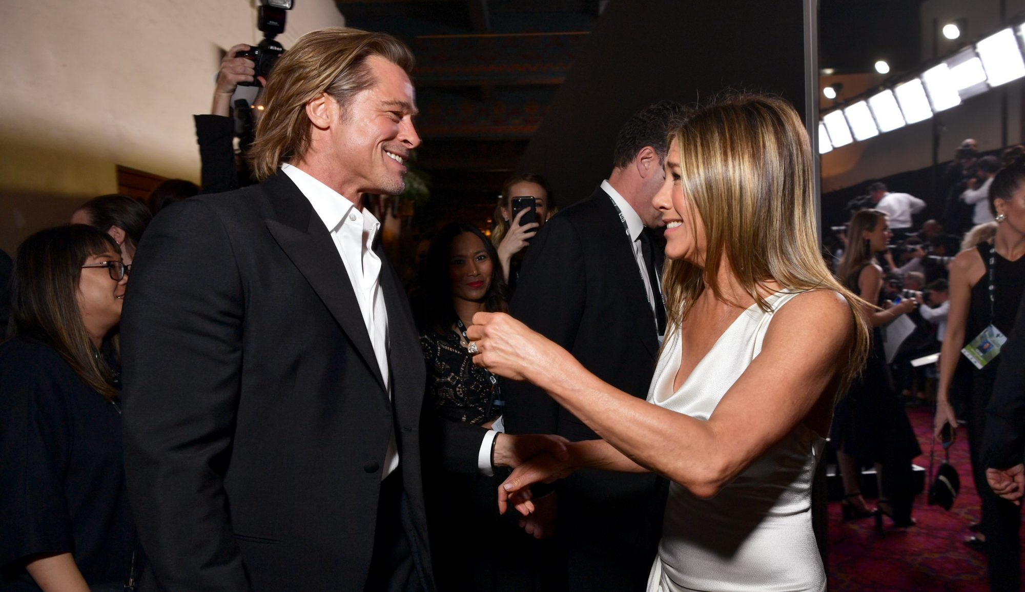 jennifer aniston and brad pitt reunion