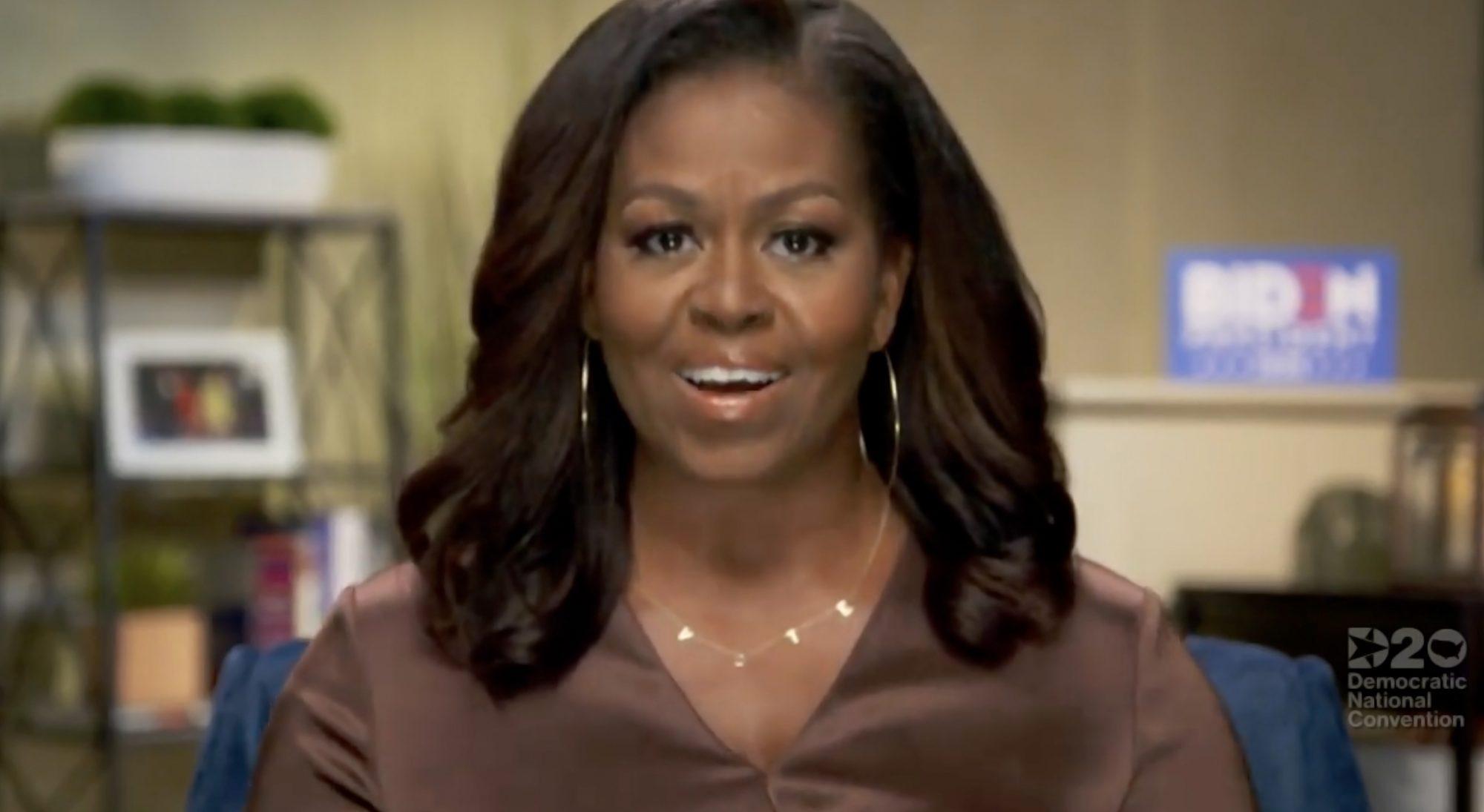 michelle obama vote necklace DNC speech