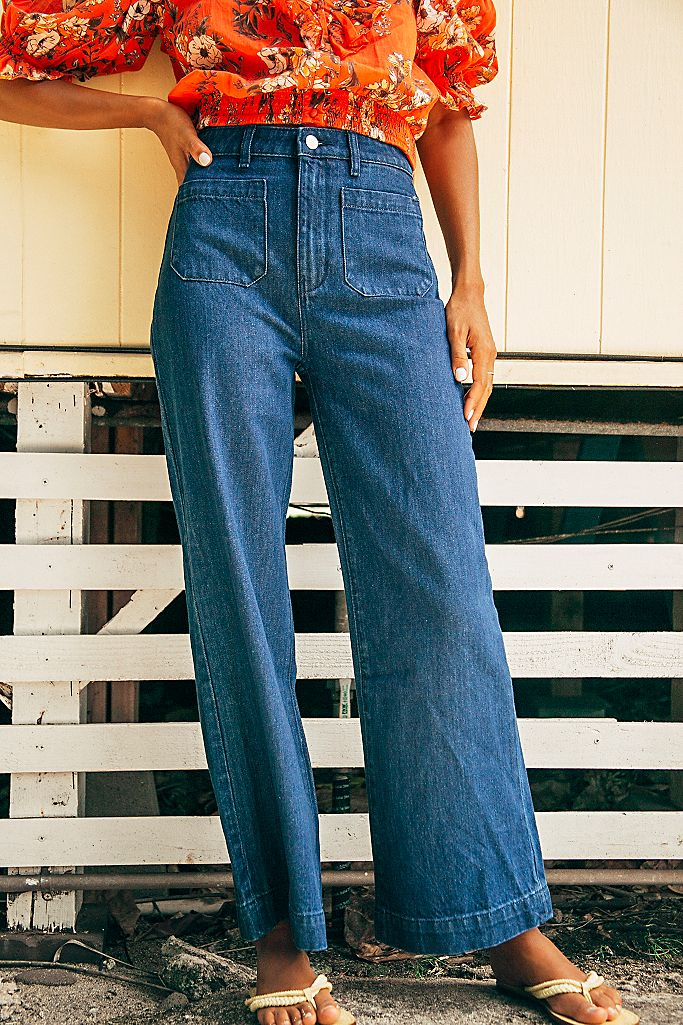 free people sailor jeans, best jeans for each zodiac sign