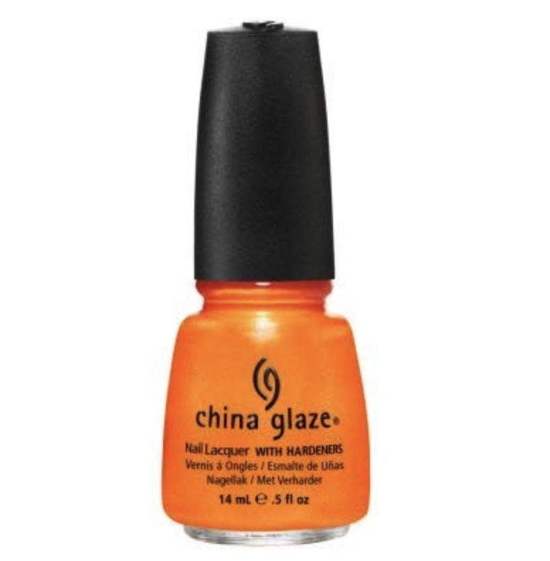 orange halloween nail polish, diy halloween nail art