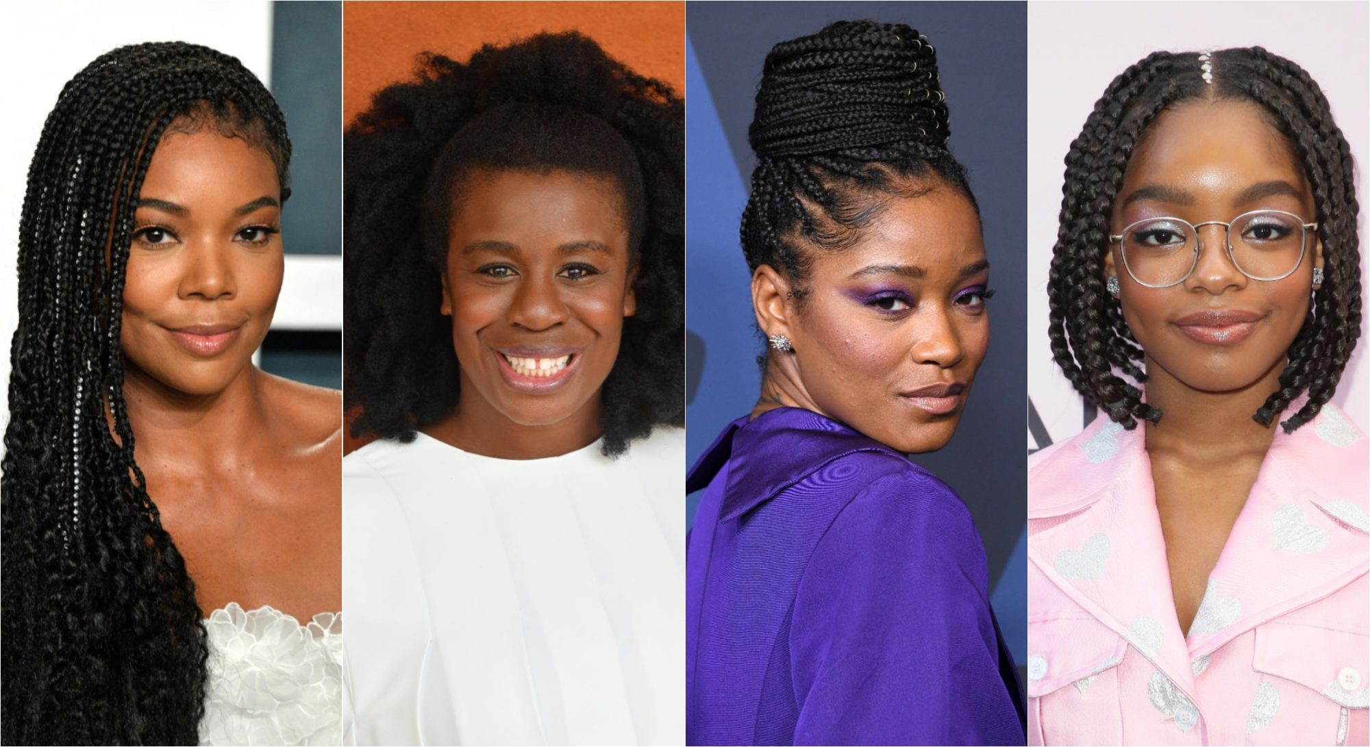 gabrielle union, uzo aduba, keke palmer, black hair discrimination