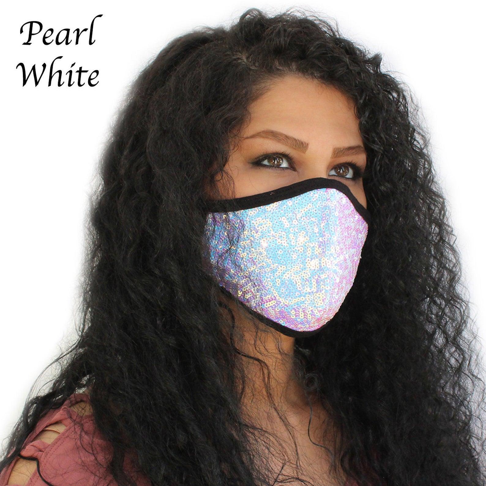 ariana grande sparkly face mask etsy