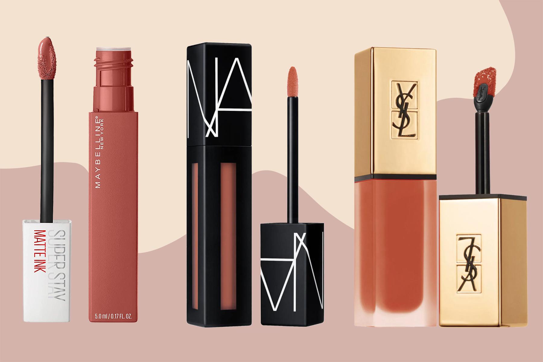 best liquid lipsticks Maybelline, NARS, Yves Saint Laurent
