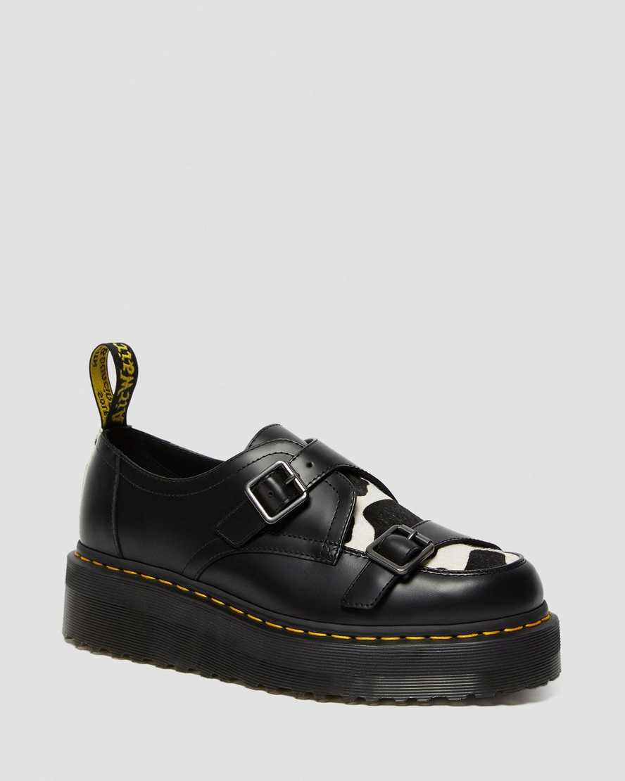 dr martens sidney creepers cow print