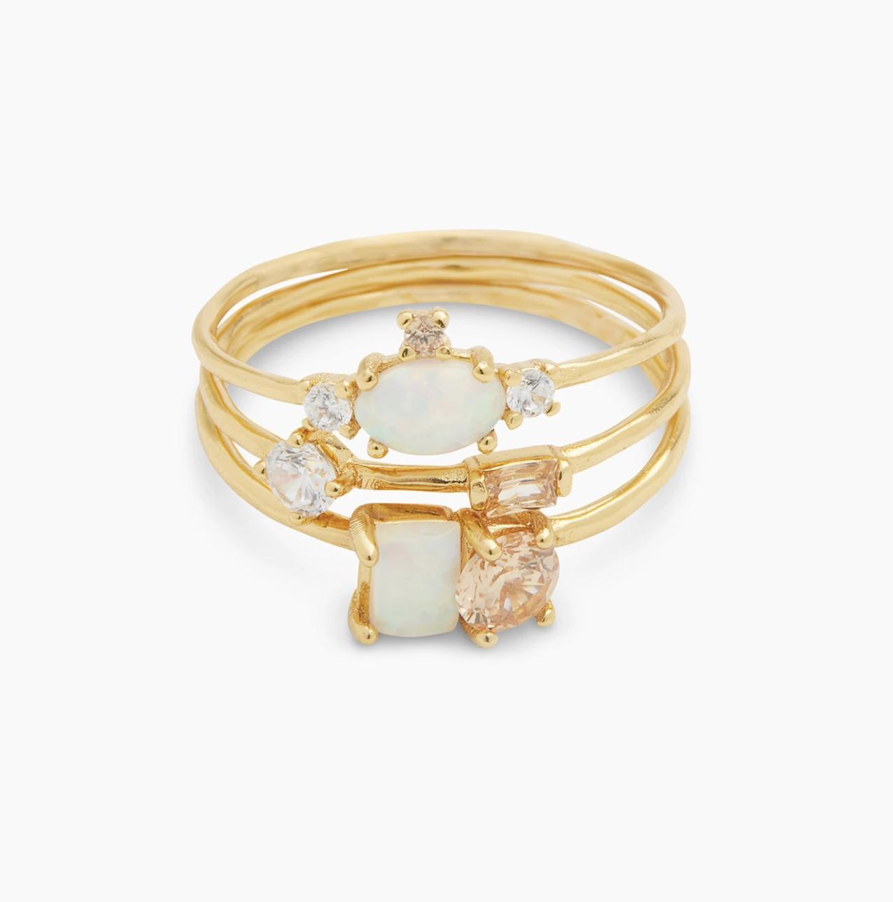gorjana opal rings