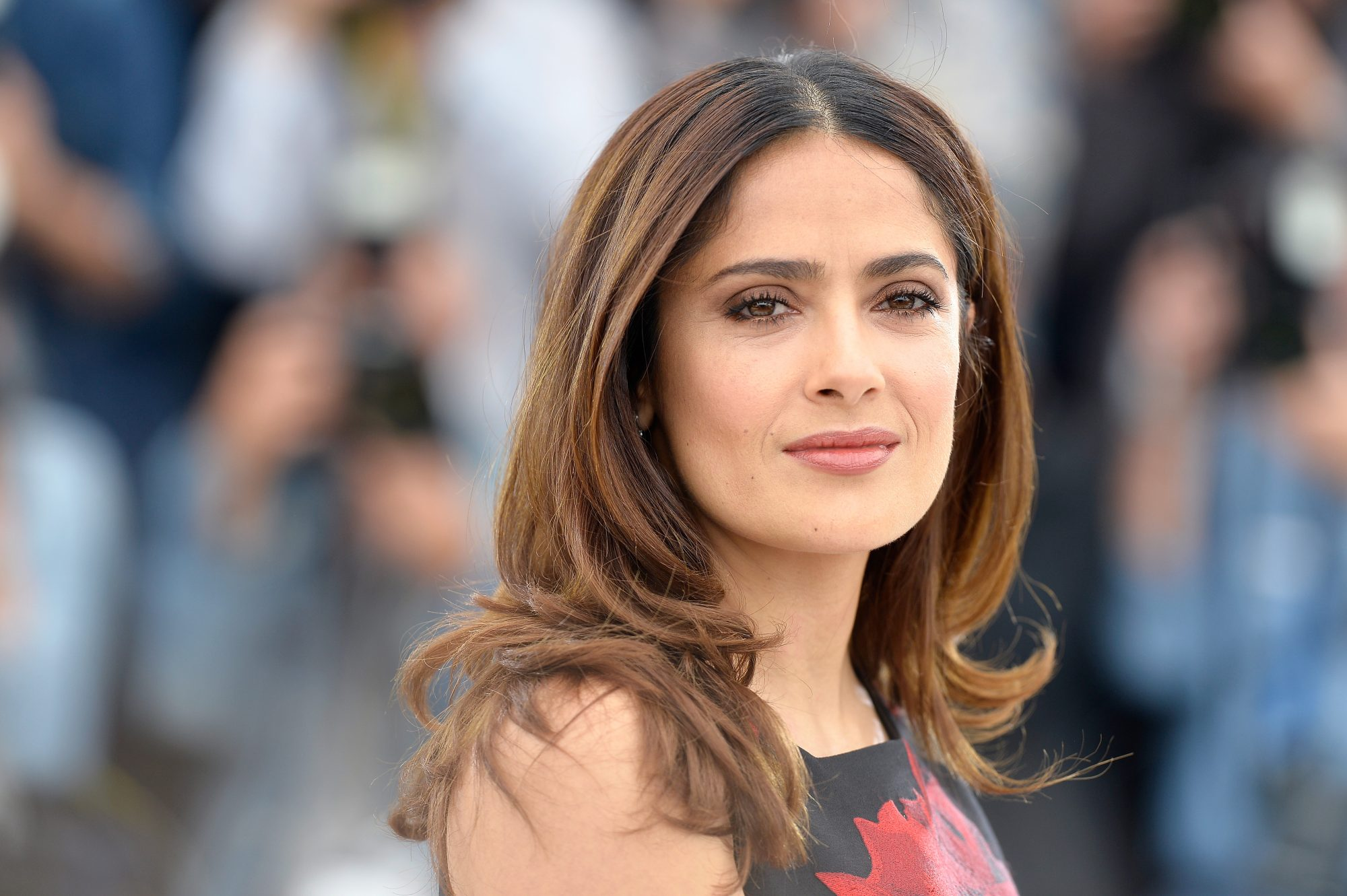 salma hayek white hair post