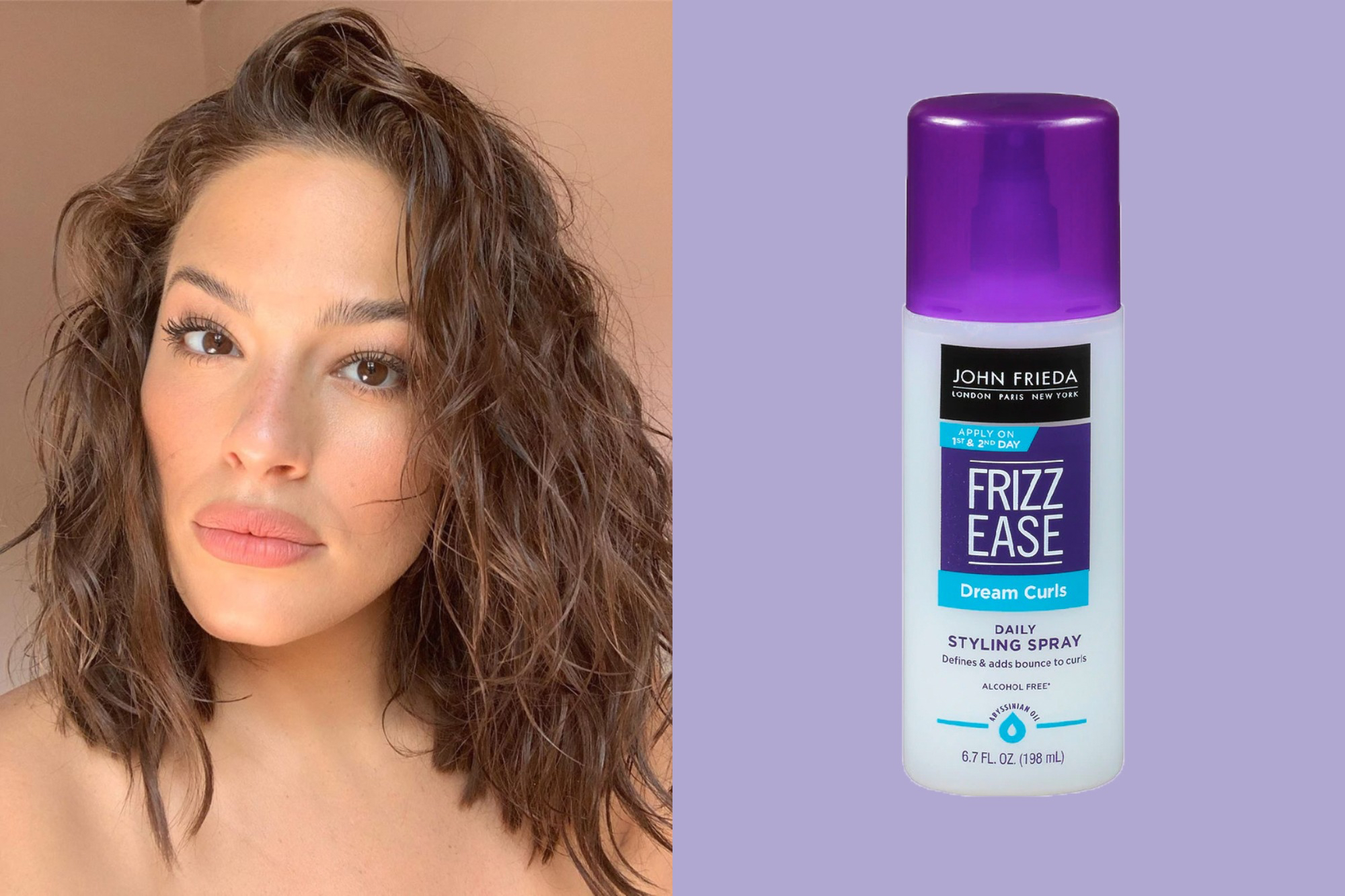 ashley graham john frieda styling spray