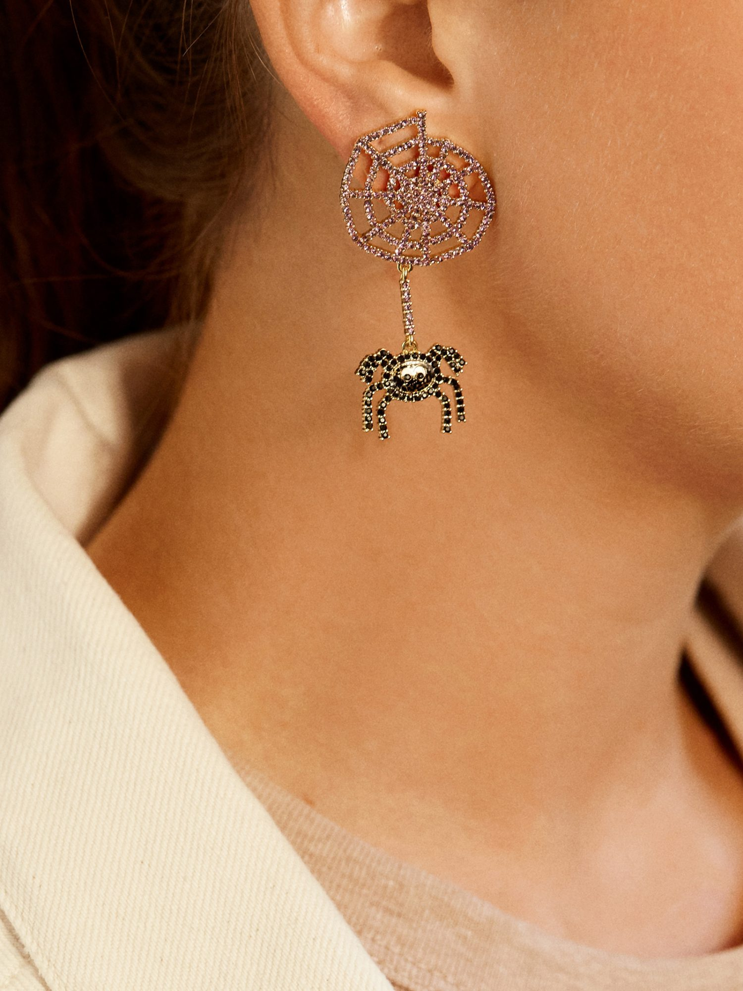 baublebar halloween spider earrings