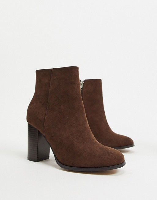 asos brown suede bootie