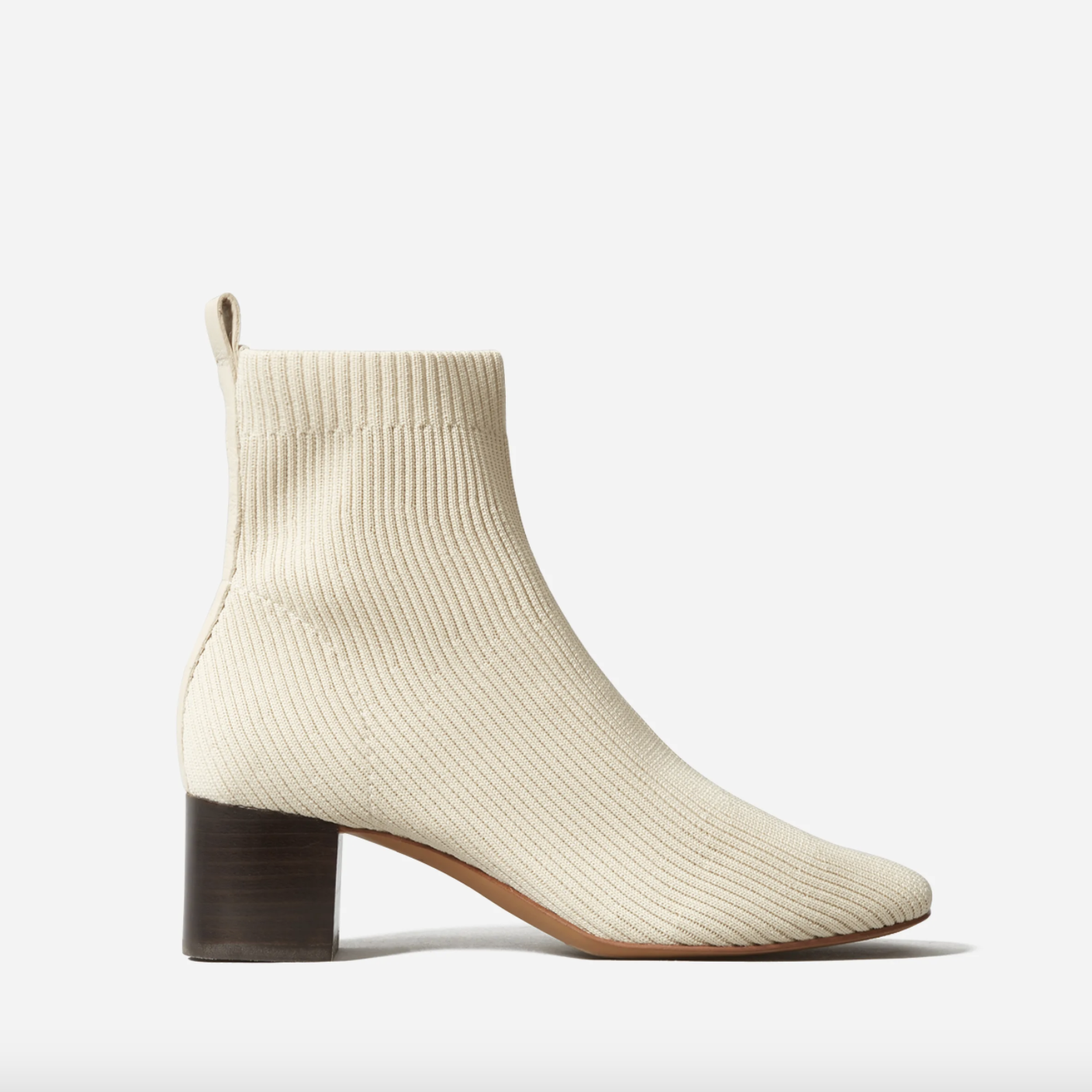 everlane knit bootie bone
