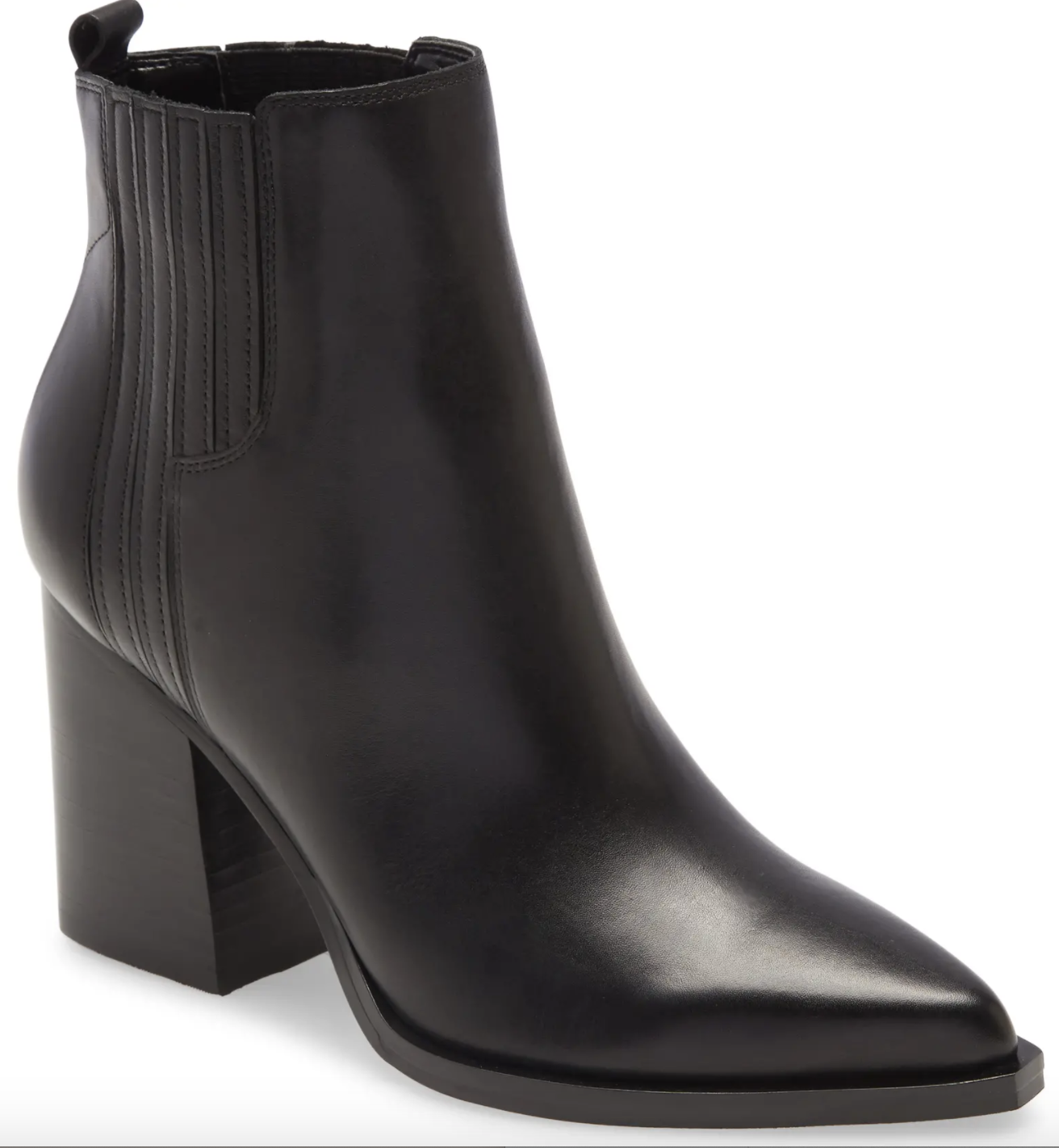 marc fisher pointed toe balck bootie