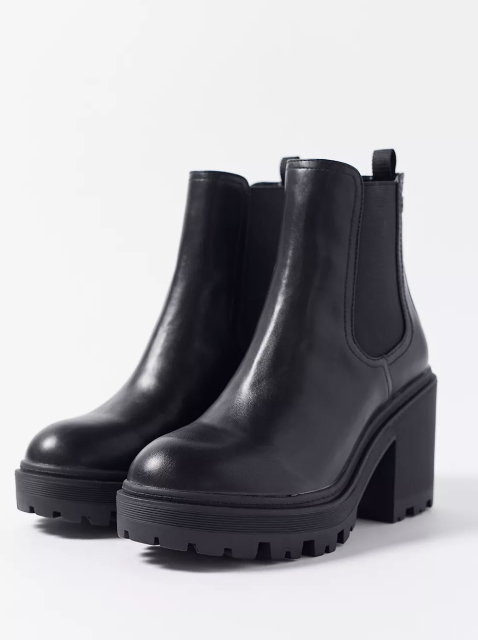 urban outfitters black heeled booties