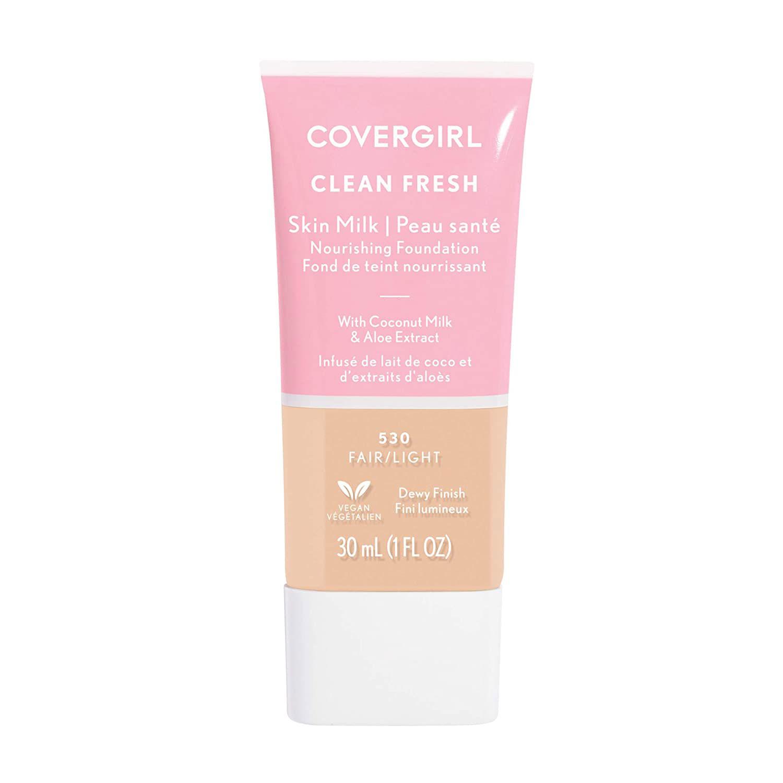 covergirl clean fresh skin milk foundation fair light