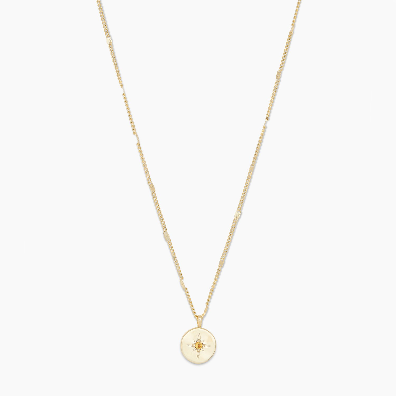 Gorjana birthstone coin necklace