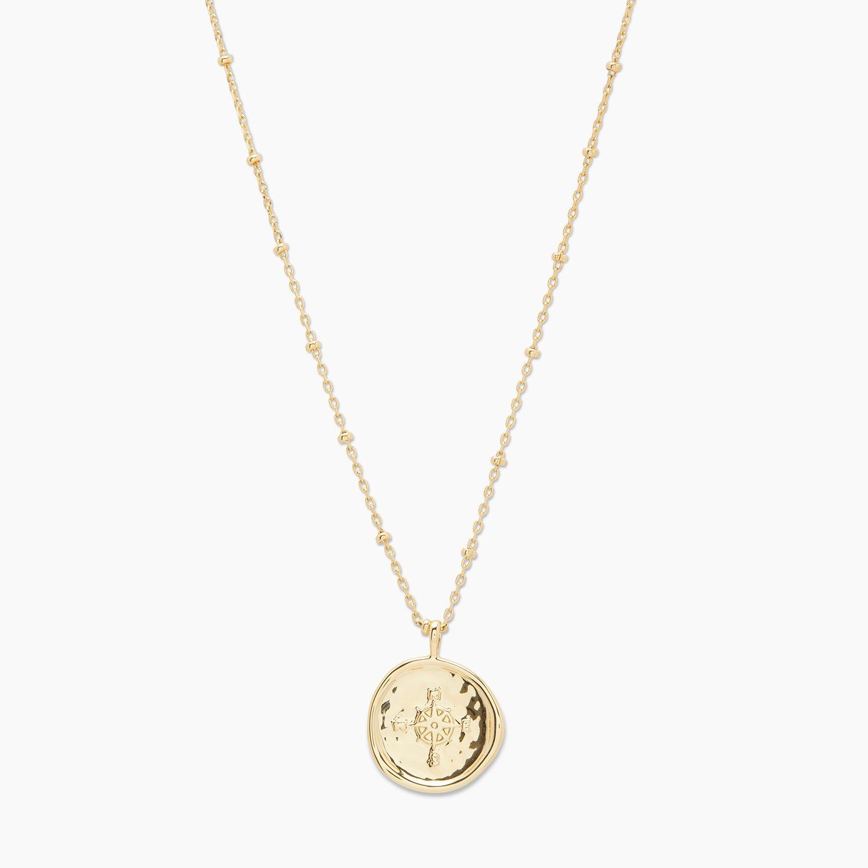 Gorjana gold coin necklace