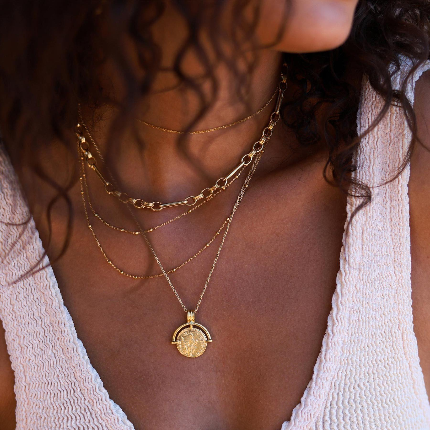 missoma gold coin necklace