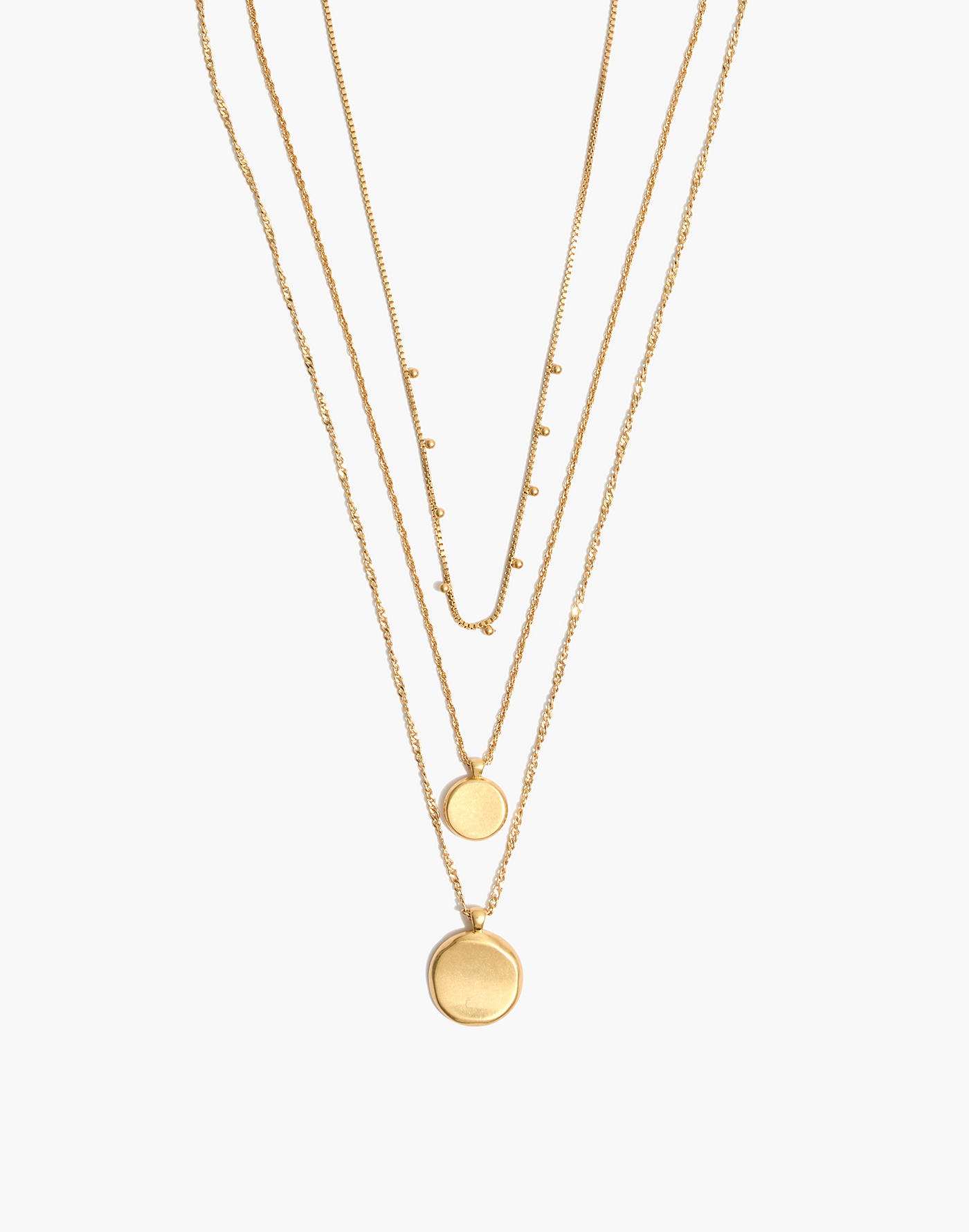 madewell gold coin necklaces