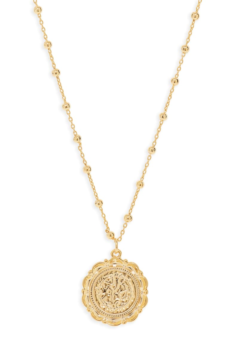nordstrom uncommon james gold coin necklace