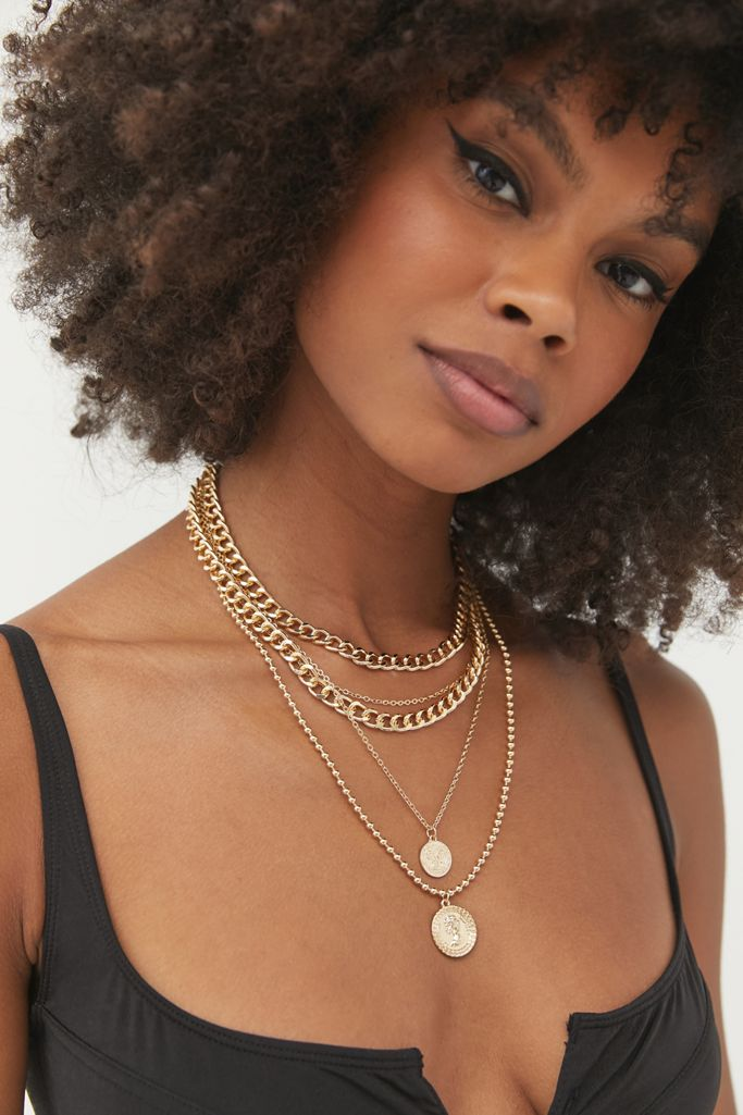 urban outfitters gold coin necklace