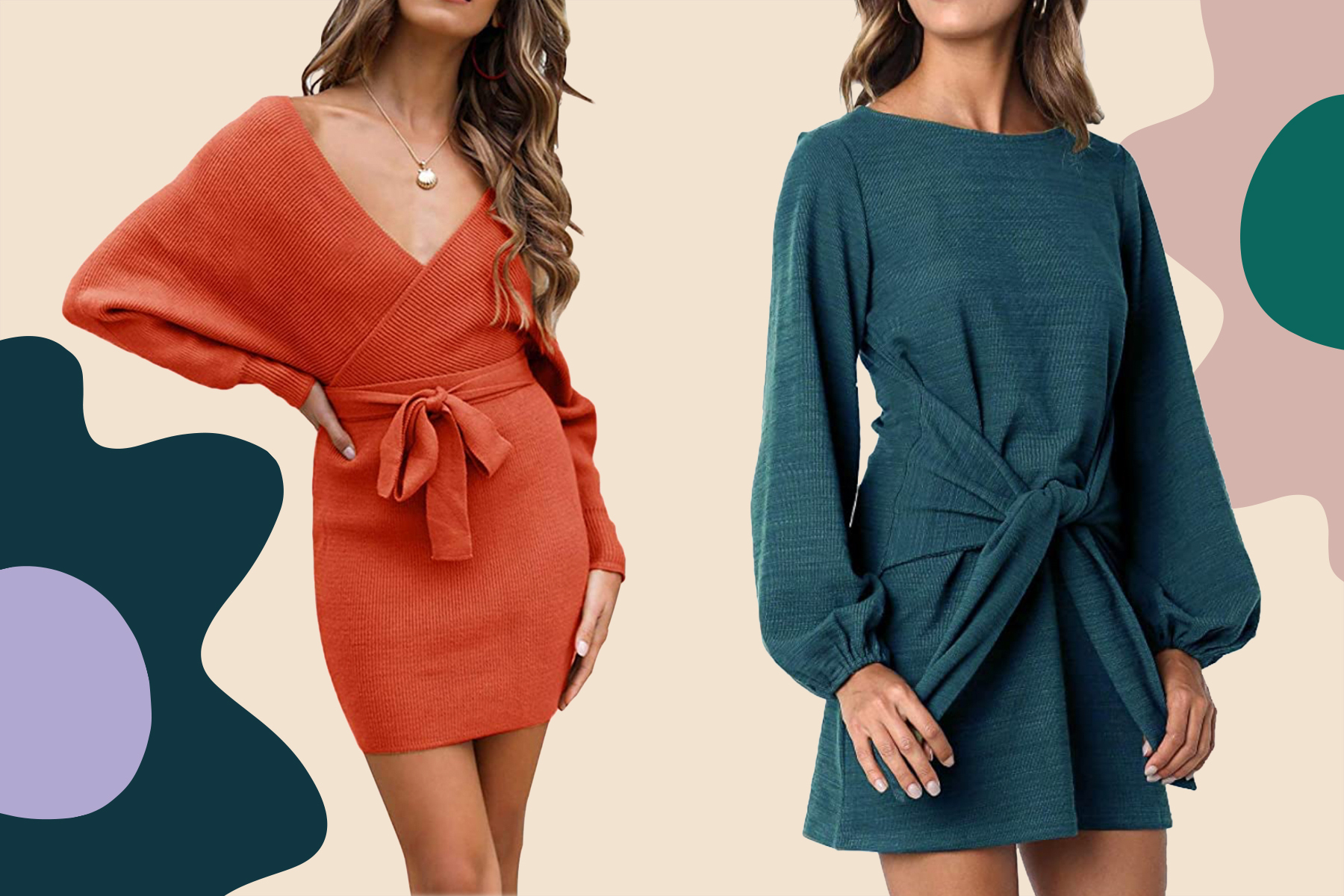 cozy sweater dresses from amazon