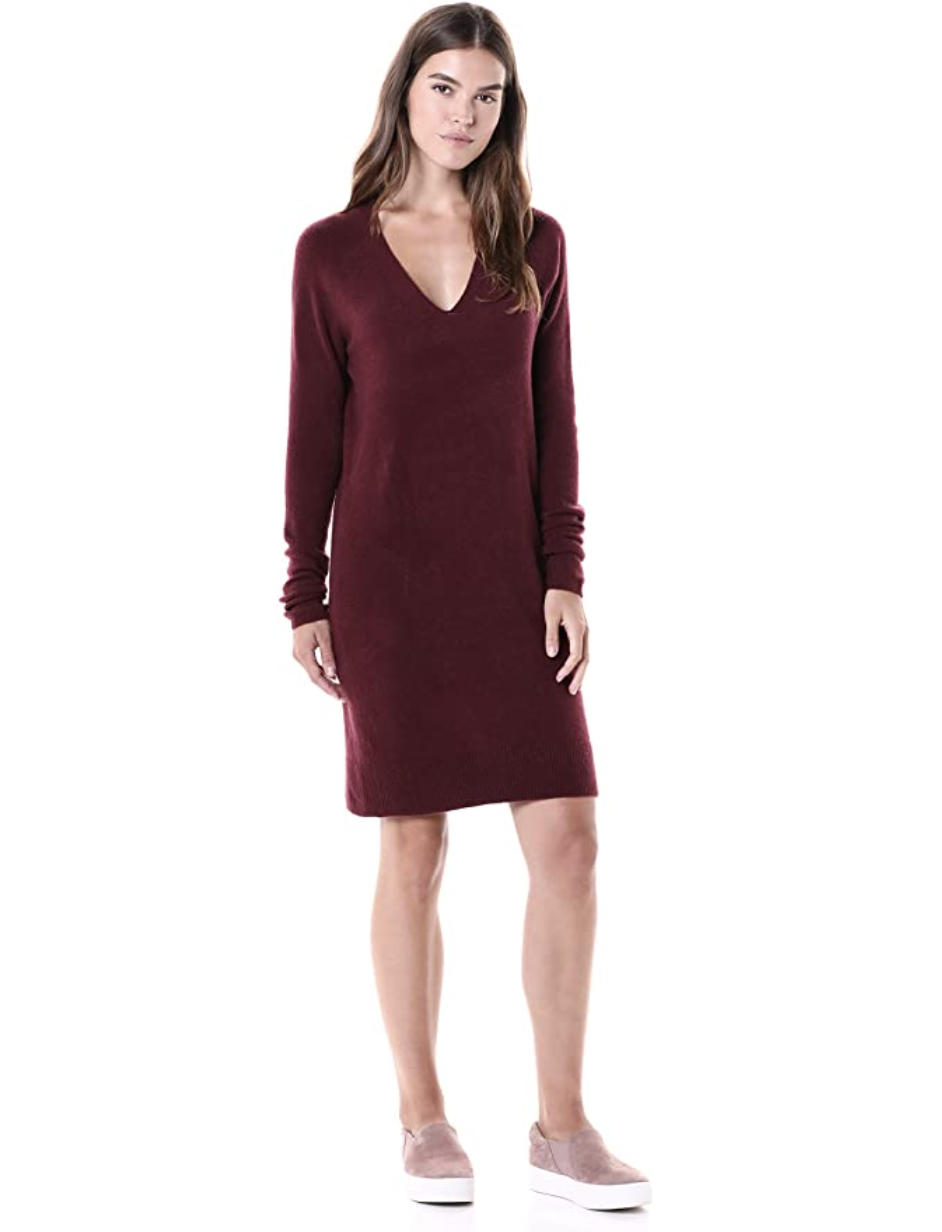 amazon brand soft sweater dress