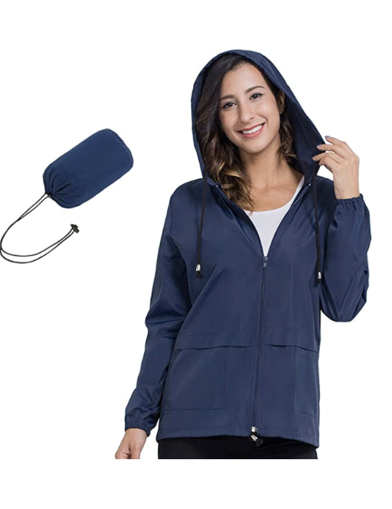 amazon cheap packable raincoat for women