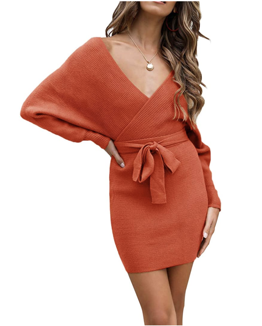 amazon zesica v next sweater dress orange