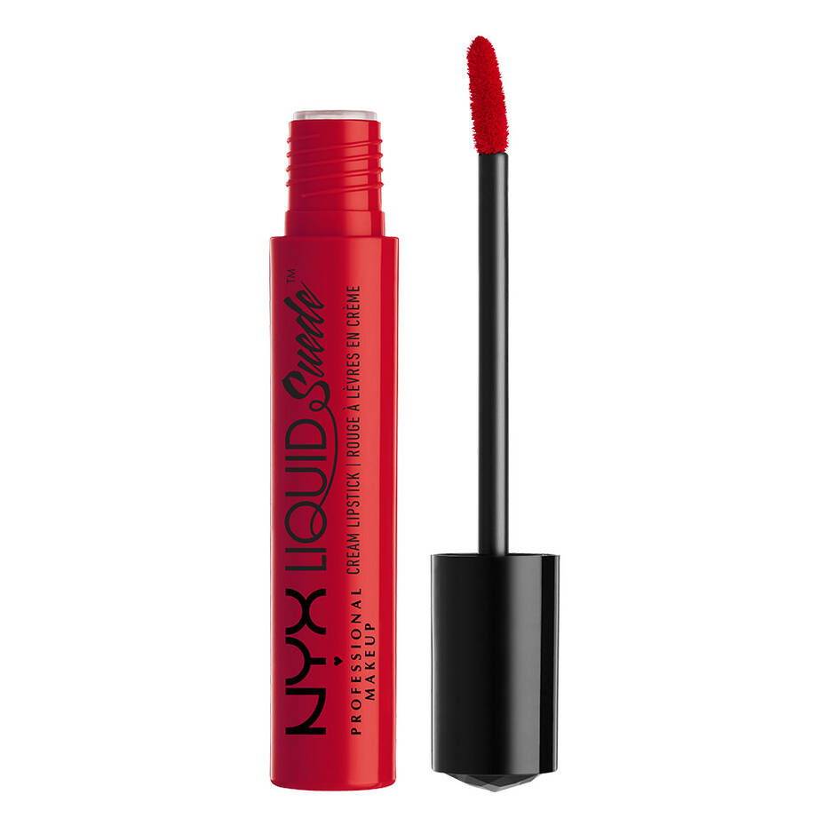 nyx liquid suede red lipstick