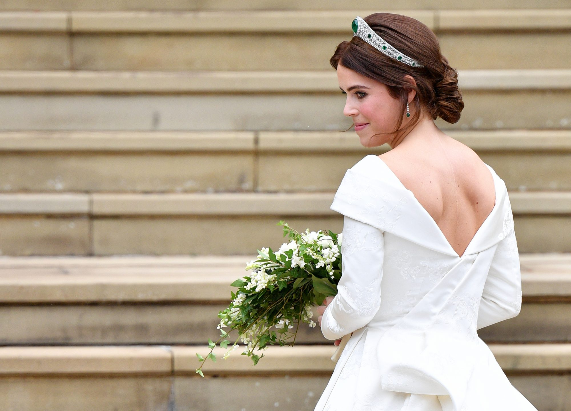 princess eugenie wedding reception dress