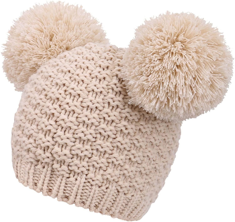 double pom pom hat amazon, cute winter hats