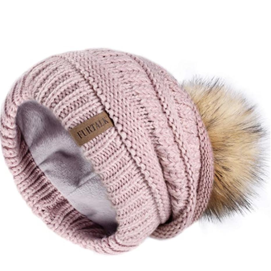 cute winter hats, fleece lined hat from amazon
