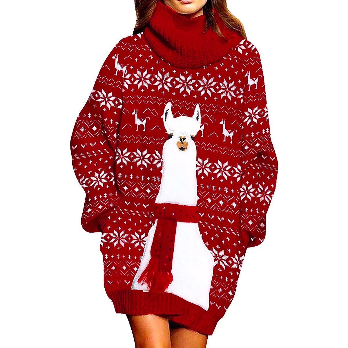 llama christmas sweater
