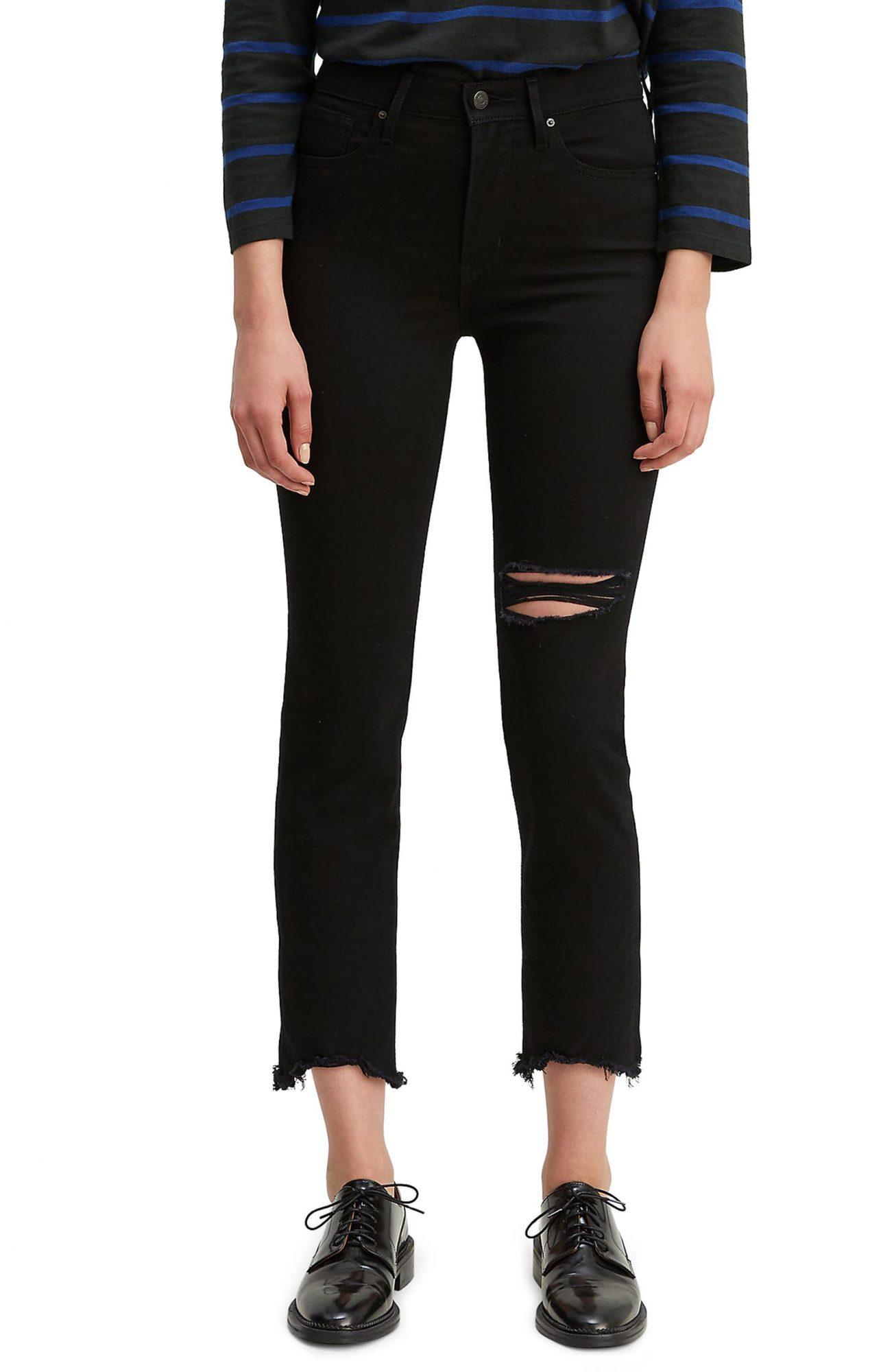 levi's ripped black jeans