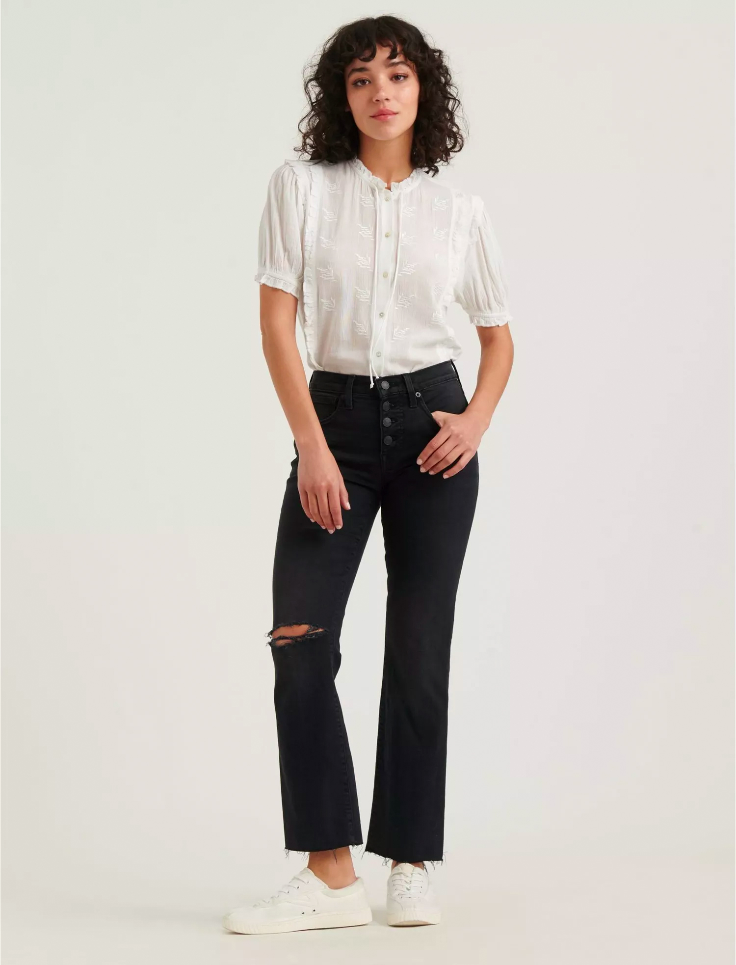 lucky brand black jeans ripped