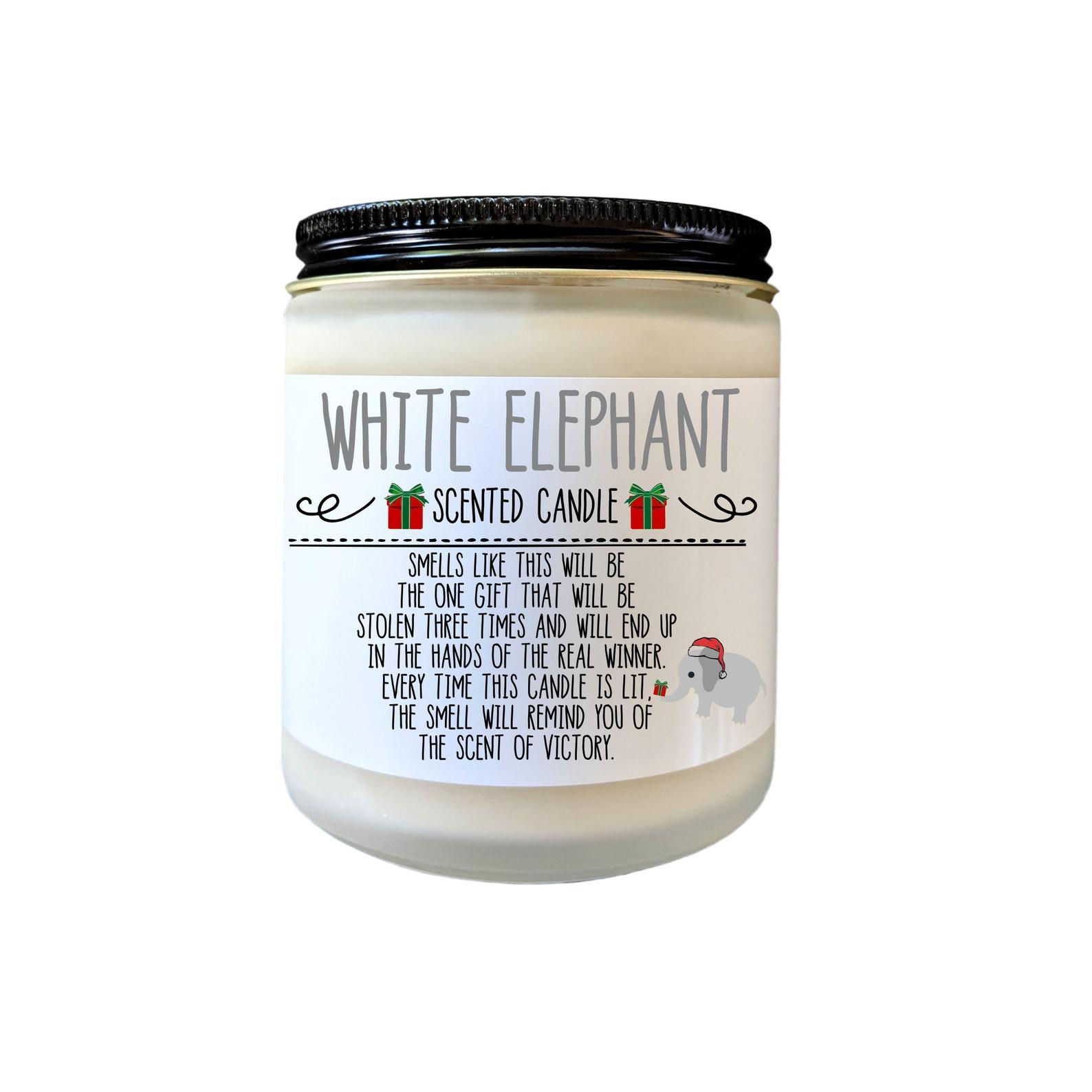 etsy white elephant candle white elephant gift ideas