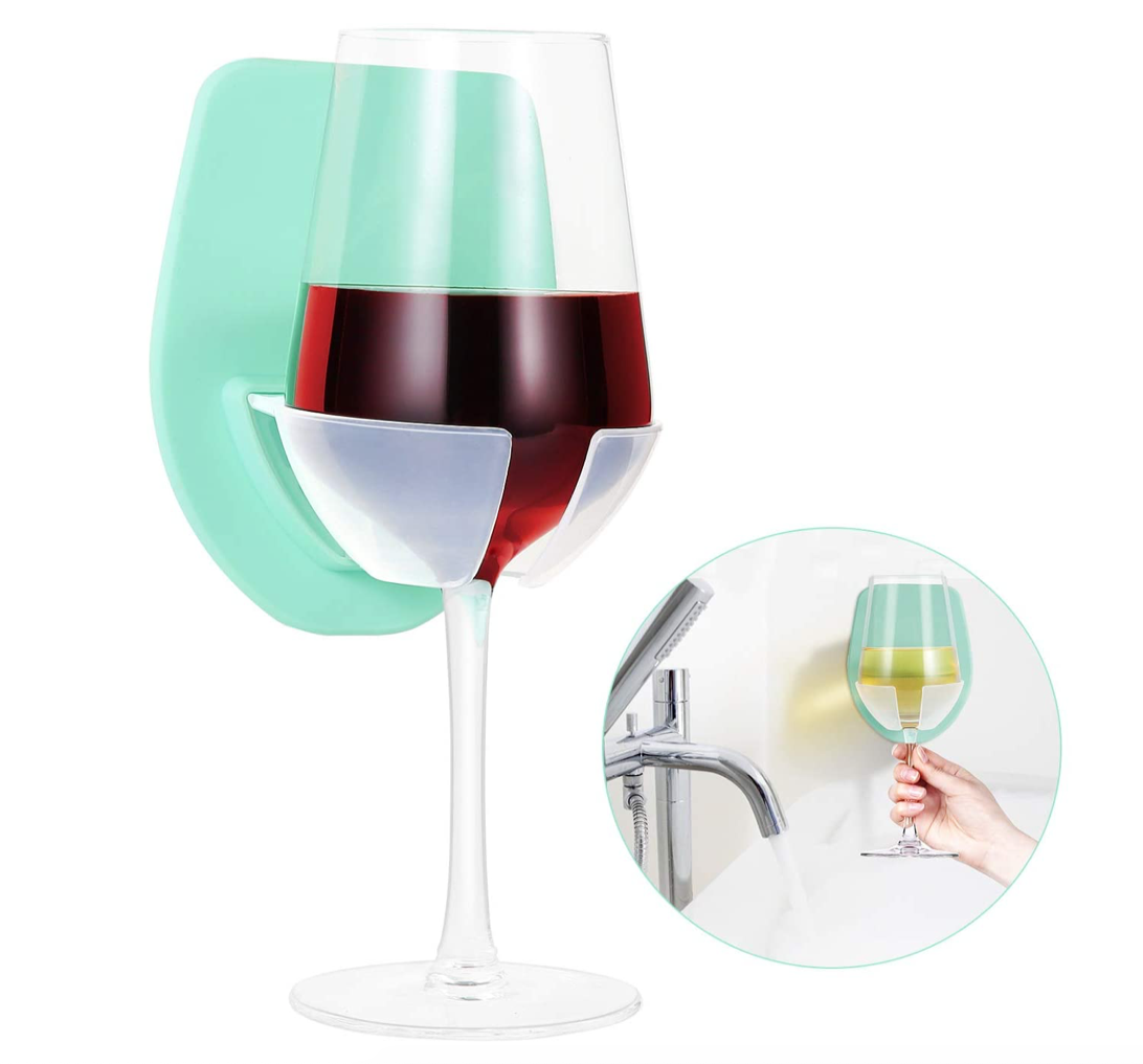 amazon shower wine glass holder white elephant gift